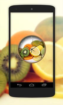 Fruit Clock Live Wallpaper screenshot 2