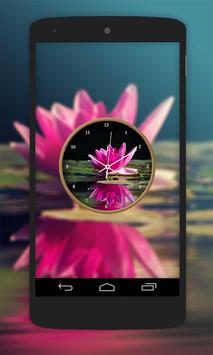 Lotus Flower Clock Live Wallpaper screenshot 5