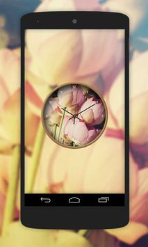 Lotus Flower Clock Live Wallpaper screenshot 6