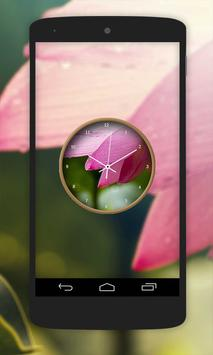 Lotus Flower Clock Live Wallpaper poster
