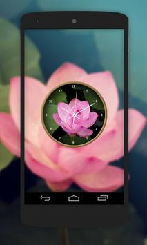 Lotus Flower Clock Live Wallpaper screenshot 1