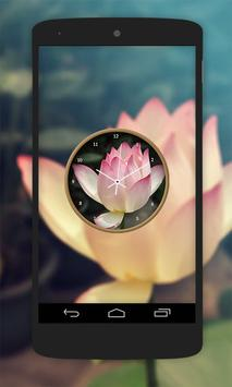 Lotus Flower Clock Live Wallpaper screenshot 2