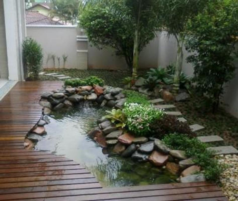 Amazing fish pond design ideas apk download free for Types of pond design
