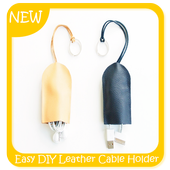 Easy DIY Leather Cable Holder icon
