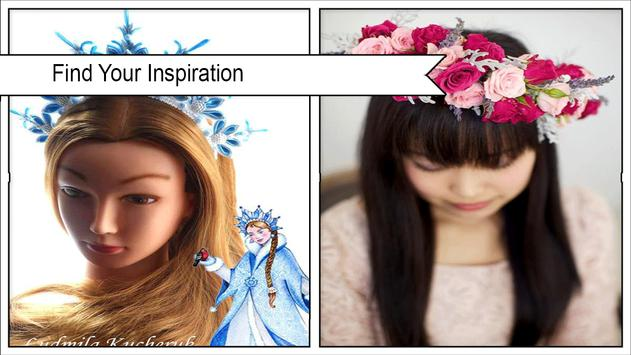 Pretty DIY Flower Crafts for Princess Hair poster