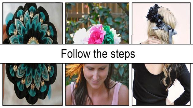 Pretty DIY Flower Crafts for Princess Hair apk screenshot