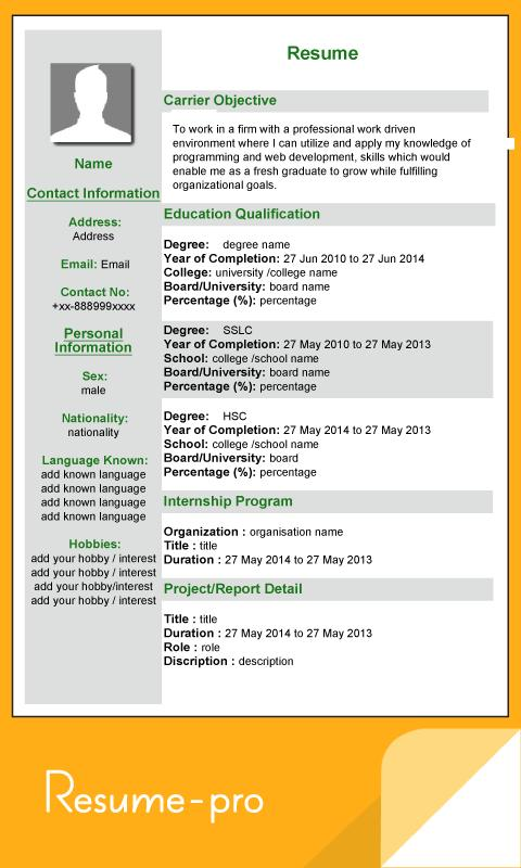 Super Resume Pro APK Download - Free Business APP for Android ...