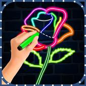 Glow Draw Flowers icon