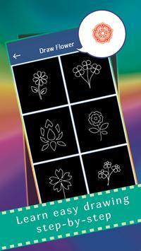 Glow Draw Flowers screenshot 1