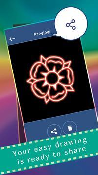 Glow Draw Flowers screenshot 3