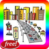 City Cars Traffic collection icon
