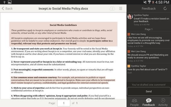 Amazon WorkDocs screenshot 12