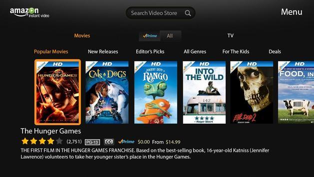 Amazon Instant Video-Google TV screenshot 1