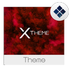 xBlack - Red Premium Theme for Xperia icône