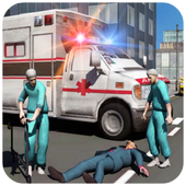 Ambulance Rescue Driving أيقونة