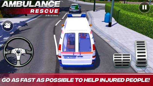 Ambulance Rescue Driving تصوير الشاشة 6