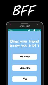 BFF friendship test poster