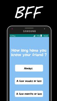 BFF friendship test apk screenshot