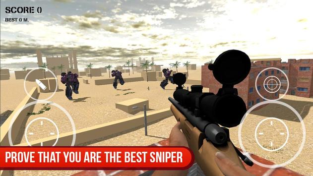 Sniper vs Futuristic Robot screenshot 8
