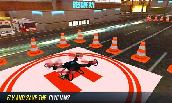 Futuristic Fire Fighting Drone apk screenshot