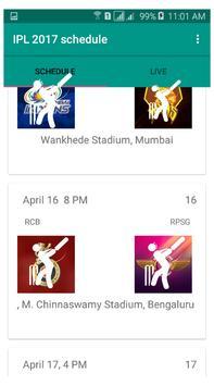 IPL 2017 Schedule poster