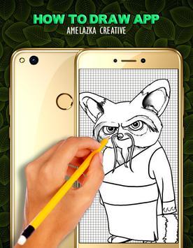 How to Draw KungfuPanda - Easy apk screenshot