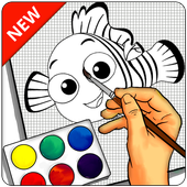 How To Draw NEMO - Easy icon