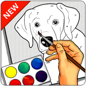 How to draw a Dog step by step icon