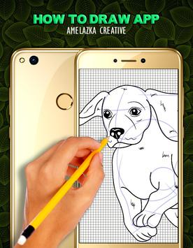 How to draw a Dog step by step poster