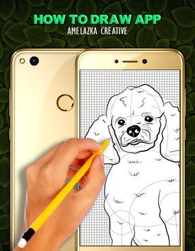 How to draw a Dog step by step apk screenshot