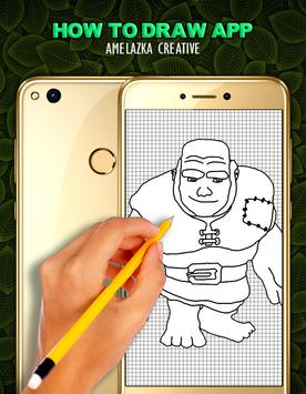 Learn to draw Clans Characters screenshot 4