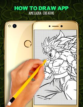 Learn to draw DBZ Characters poster