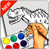 Learn to draw Dinosaurs icon