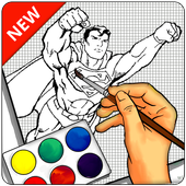Learn to draw Superhero HD icon