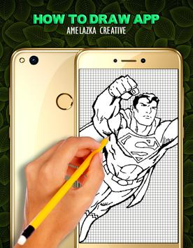 Learn to draw Superhero HD poster