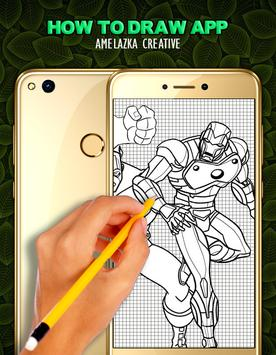 Learn to draw Superhero HD apk screenshot
