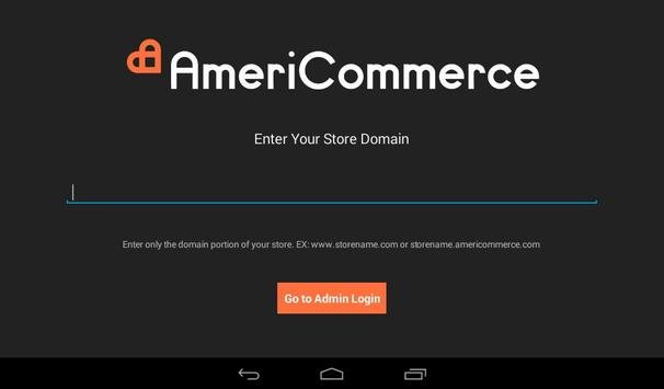 AmeriCommerce eCommerce Admin apk screenshot