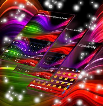 Neon Multicolor Keyboard Theme screenshot 1