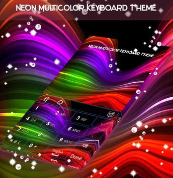 Neon Multicolor Keyboard Theme apk screenshot