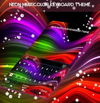 Neon Multicolor Keyboard Theme screenshot 3