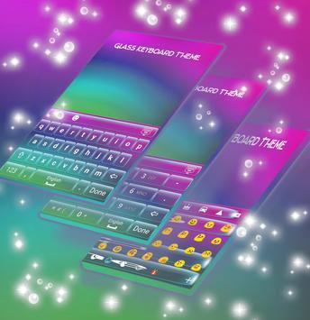 Glass Keyboard Theme apk screenshot