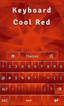 Keyboard Cool Red poster