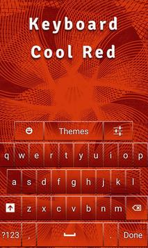 Keyboard Cool Red apk screenshot