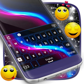 Keyboard Neon Wave Theme icon