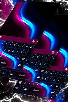 Keyboard Neon Wave Theme poster