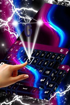 Keyboard Neon Wave Theme apk screenshot