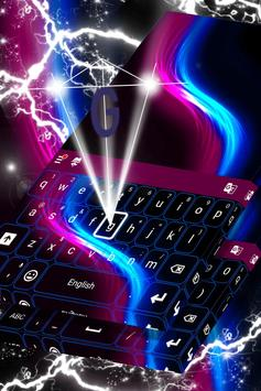 Keyboard Neon Wave Theme apk screenshot