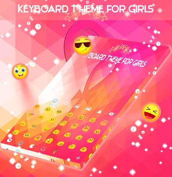 Keyboard Theme for Girls poster