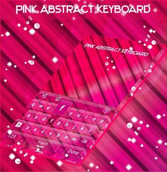 Pink Abstract Keyboard apk screenshot