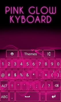 Pink Glow Keyboard apk screenshot